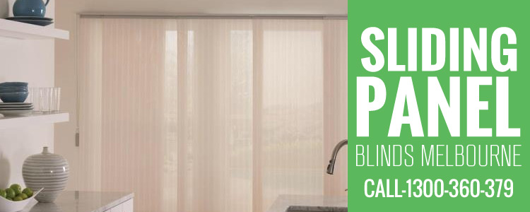 Sliding Panel Blind Cabbage Tree
