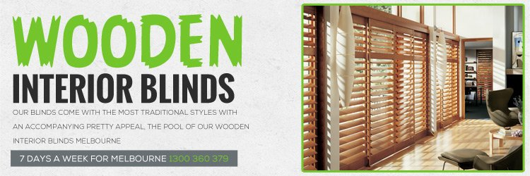 Wooden Interior Blinds St Kilda Road