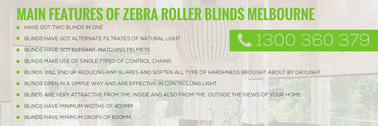 Zebra Roller Blinds Gordon
